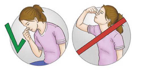 Кровотечения из носа при высмаркивании