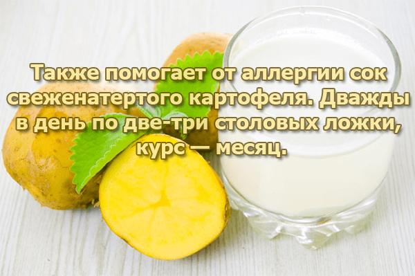 Сок картофеля от аллергии