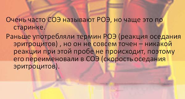 Термин РОЭ