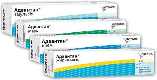 Форма выпуска препарата Адвантан