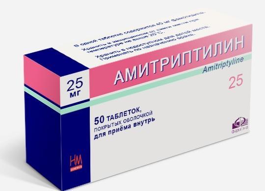 Амитриптилин в форме таблеток
