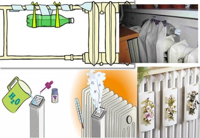 Методы увлажнения воздуха в помещении