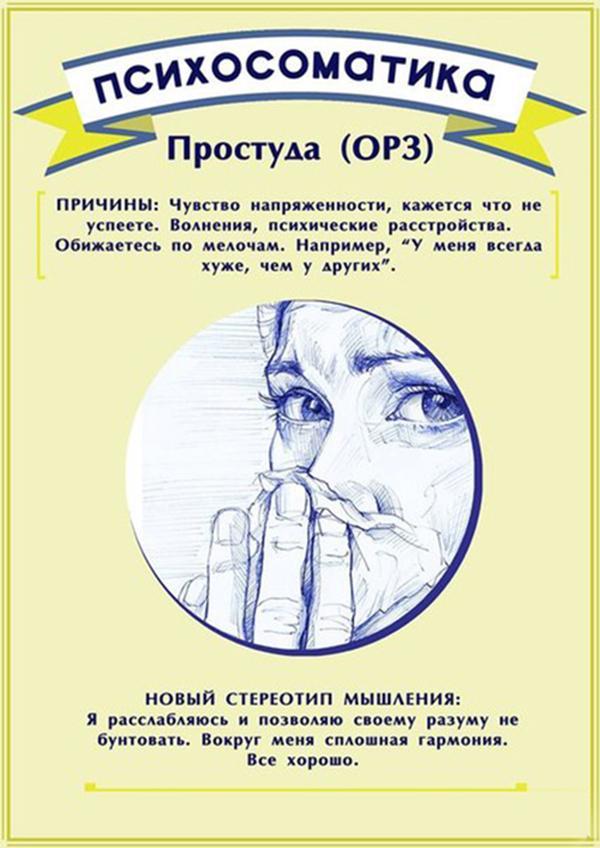 Психосоматика ОРЗ