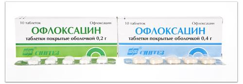 Форма выпуска препарата Офлоксацин