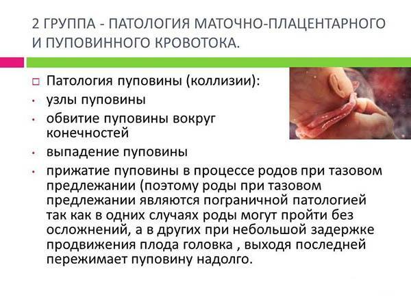 2 группа причин гипоксии плода