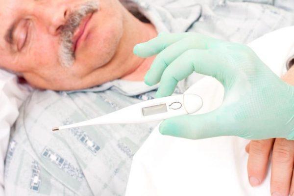 Высокая температура - симптом плевропнемонии