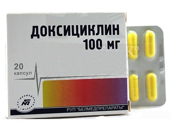 Доксициклин в капсулах