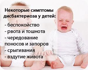 Дополнительные симптомы дисбактериоза у детей