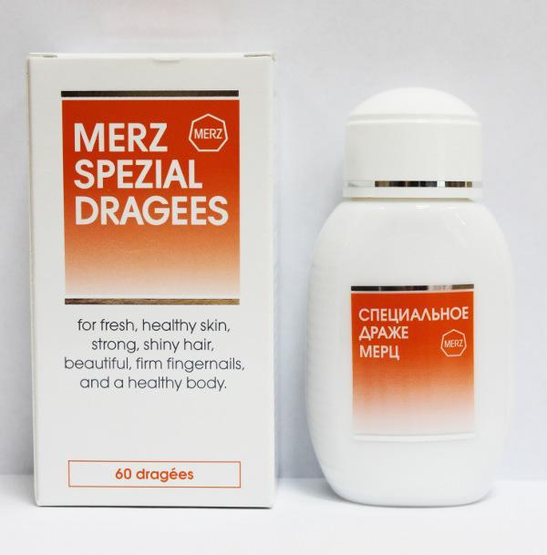Драже Мерц позволяет улучшить состояние волос и ногтей