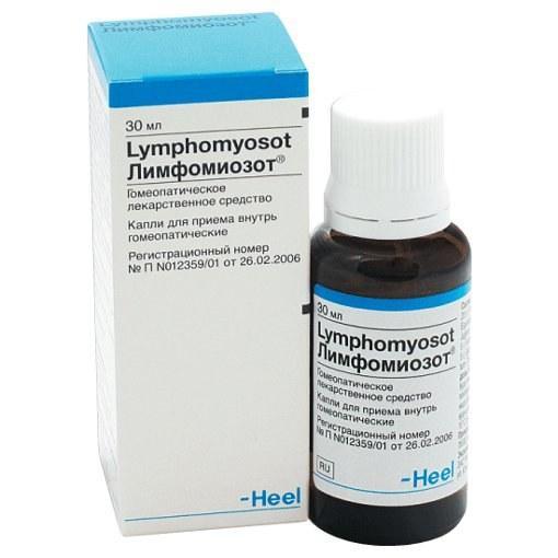 Капли гомеопатические Лимфомиозот