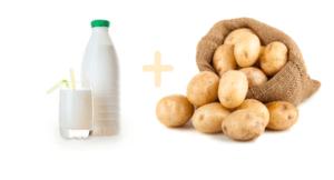 Кашица из картофеля на кефире помогает избавиться от боли, отеков и других патологических симптомов