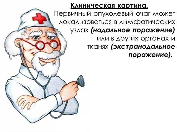 Клиническая картина лимфосаркомы