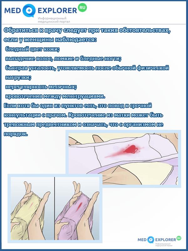 Как определить кровотечение или месячные - подробная информация