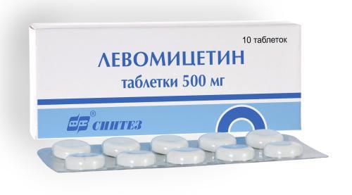 Левомицетин в таблетках