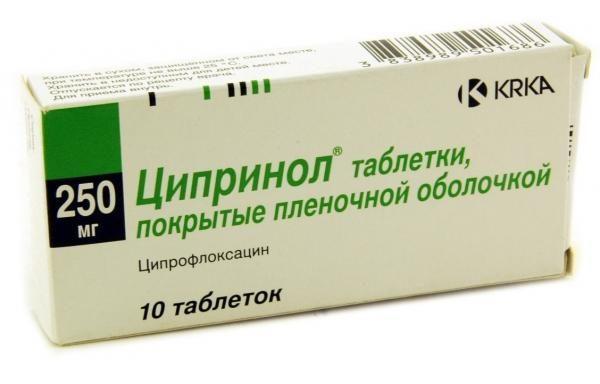 Очень мощный антибактериальный лекарственный препарат Ципринол