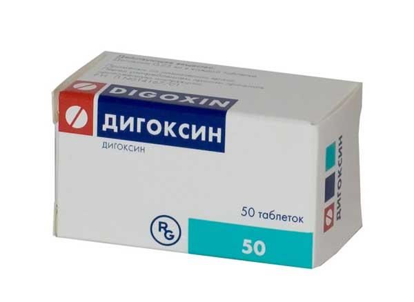 Препарат Дигоксин в форме таблеток