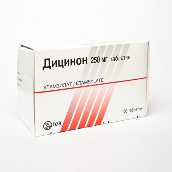 Препарат Дицинон в таблетках