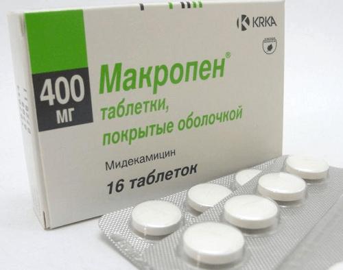 Препарат Макропен в таблетках
