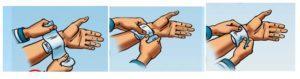 Способ остановки капиллярного кровотечения и наложение повязки