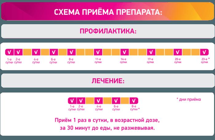Схема приема препарата Циклоферон