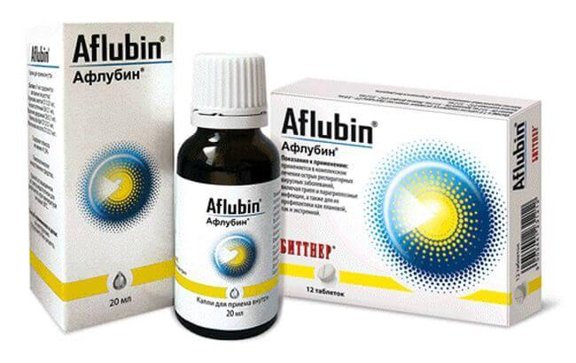 Форма выпуска препарата Афлубин