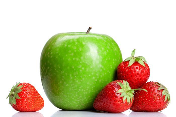 Яблоко, клубника