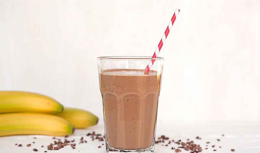На второй завтрак можно банан и стакан какао