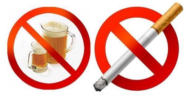 Необходимо отказаться от вредных привычек
