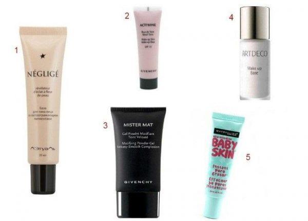 Популярные основы под макияж