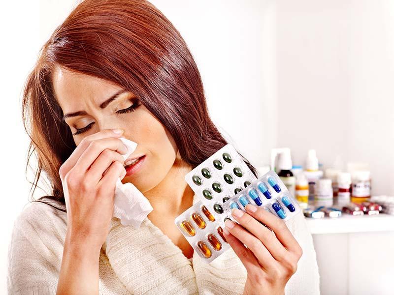 При аллергии принимать антигистамины