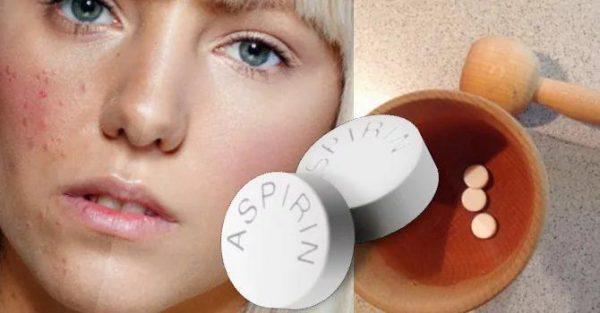 При использования аспириновой маски прыщи станут менее заметными уже после первого использования