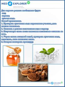 Рецепт от прыщей с медом и корицей