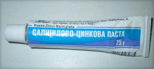 Салицилово-цинковая паста от прыщей