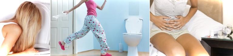Симптомами диареи являются - острые боли в области живота, рвота, частые позывы и жидкий стул
