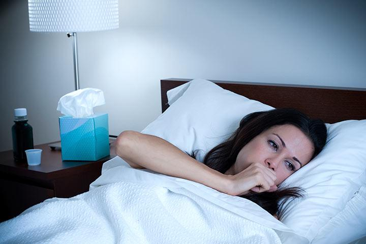 В ночное время кашель усиливается