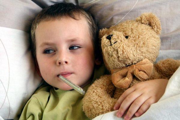 Высокая температура сигнализирует о наличие кишечной инфекции