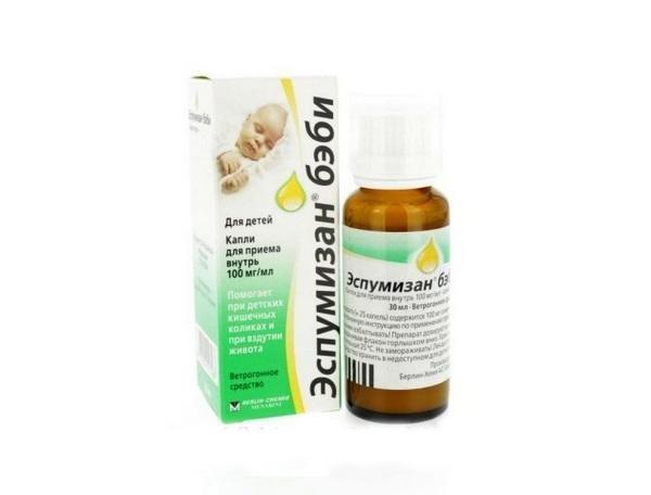 Препарат Эспумизан для избавления от вздутия живота у детей