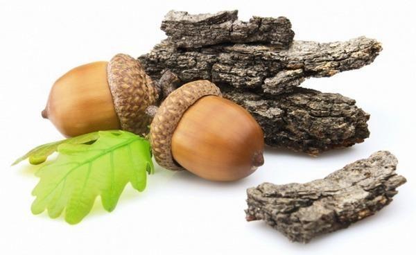 Избавиться от шелушения кожи, трещин и ран на пальцах можно с помощью местных ванночек с отваром коры дуба