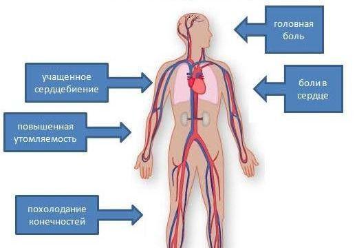 Симптоматика диастолической гипертензии