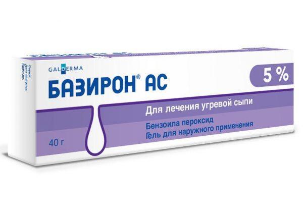 Популярное средство для лечения любых воспалительных высыпаний на лице Базирон АС
