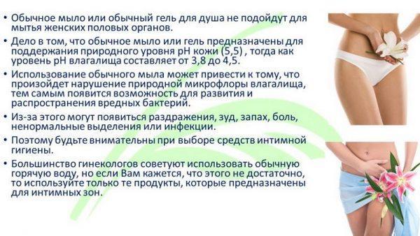 Правила интимной гигиены для женщин