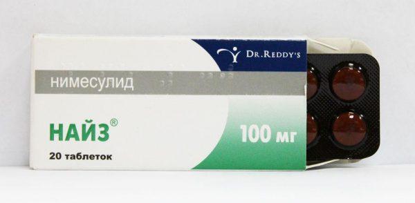 Препарат Найз в форме таблеток