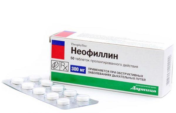 Средство для оказания комплексного воздействия на больные бронхи Неофиллин