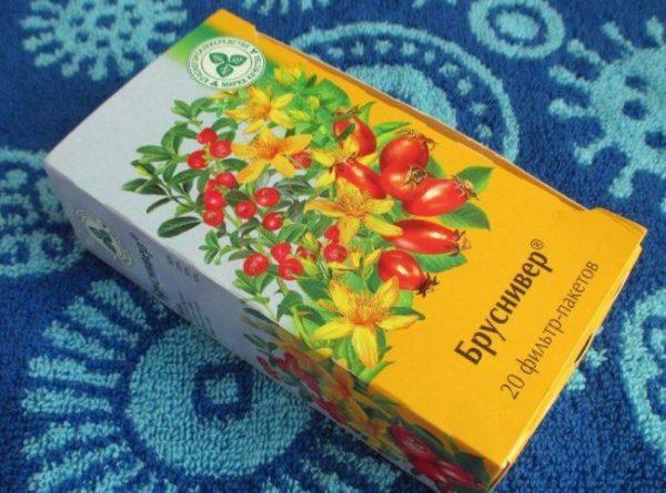 Чай в пакетиках Бруснивер