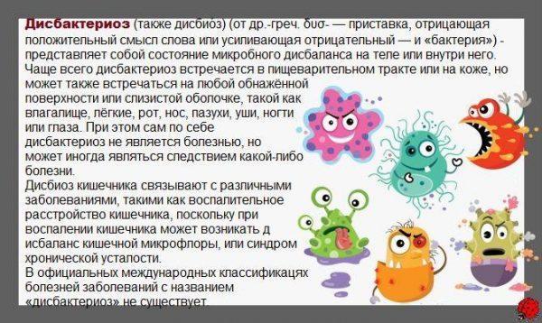 Что такое дисбактериоз и где он встречается