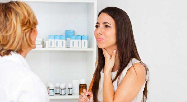 Боль в горле при глотании — лечение