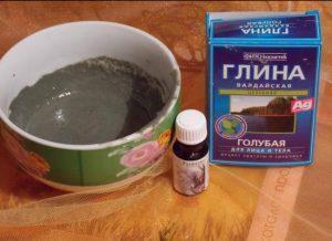 Голубая глина и эфирное масло розмарина
