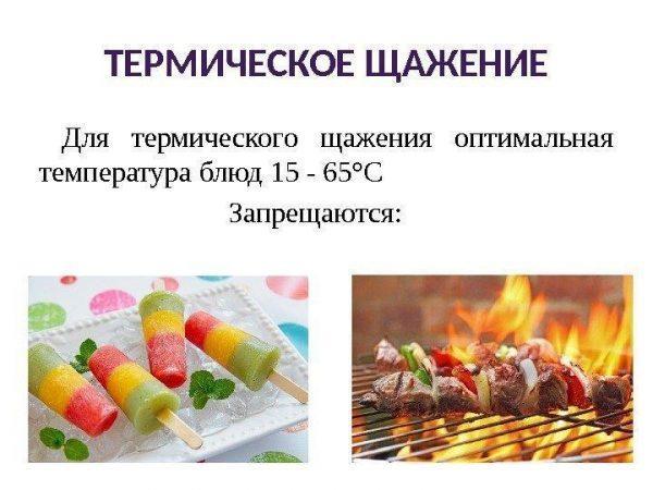 Оптимальная температура при термическом щажении