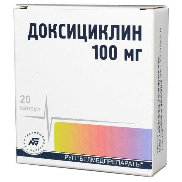 Препарат Доксициклин в капсулах