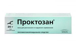 Препарат Проктозан в форме мази